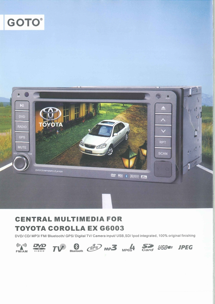 CAR MULTIMEDIA PLAYER PRODUCT CATALOGUE G6003