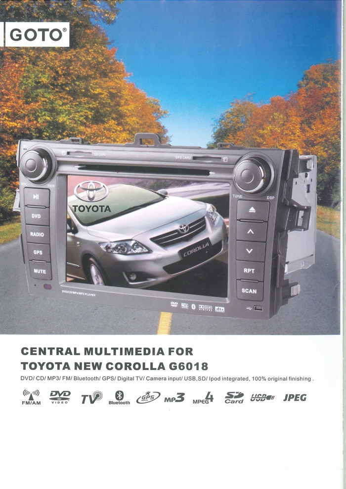 CAR MULTIMEDIA PLAYER PRODUCT CATALOGUE G6018