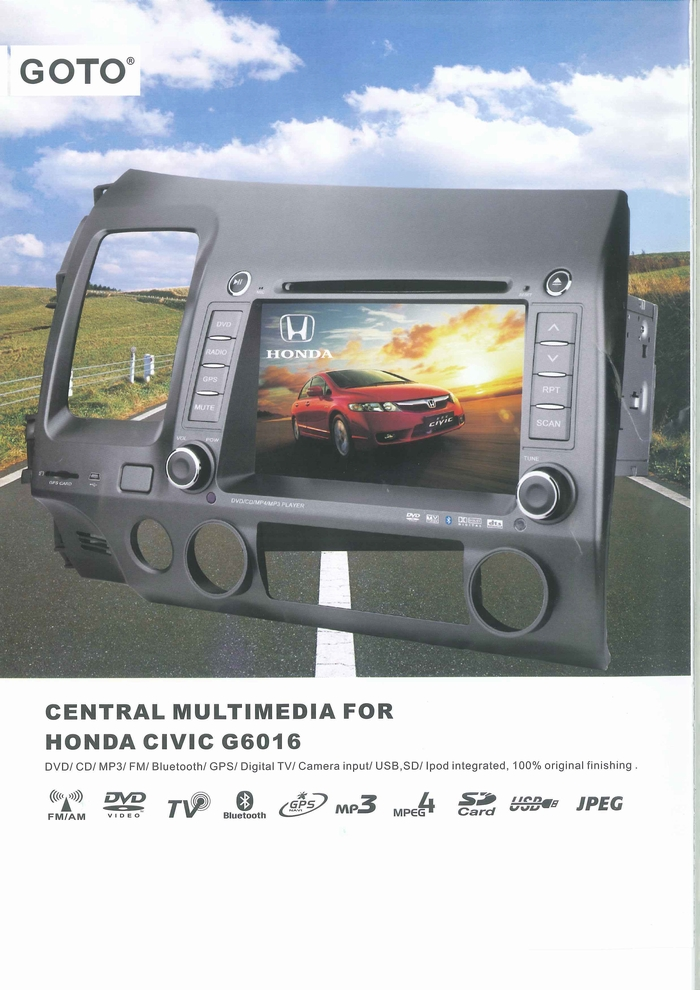 CAR MULTIMEDIA PLAYER PRODUCT CATALOGUE G6016