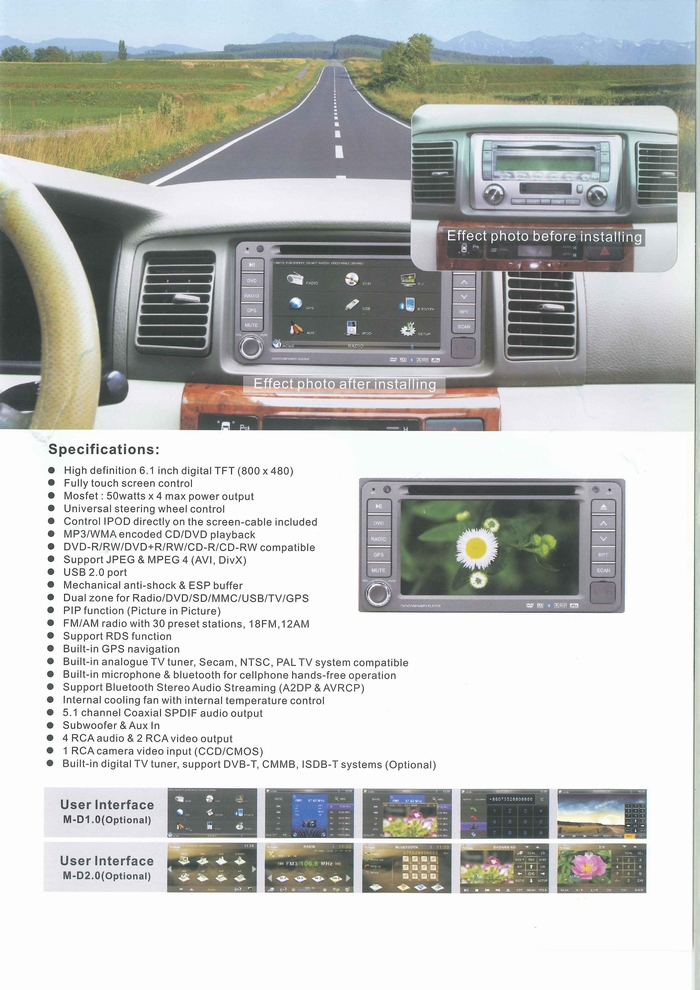 CAR MULTIMEDIA PLAYER PRODUCT CATALOGUE